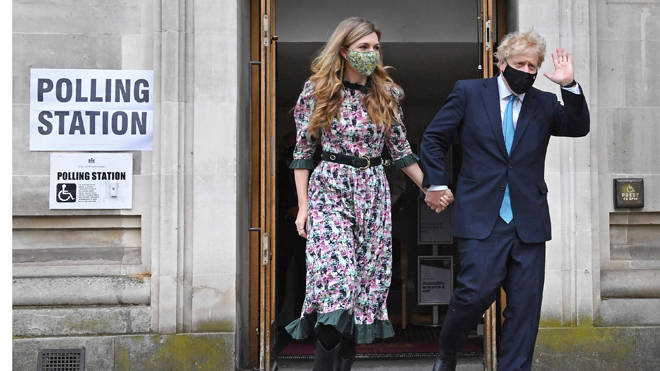 Boris Johnson and Carrie Symonds cast their votes this morning