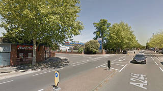 The incident took place in Feltham, West London, as the boy walked with his grandmother