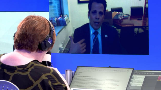 Anthony Scaramucci spoke to LBC live from New York