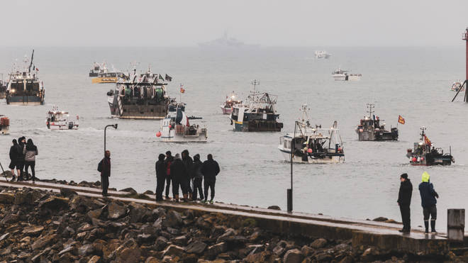 Dozens of French vessels halted protests on Thursday after speaking with Jersey government officials