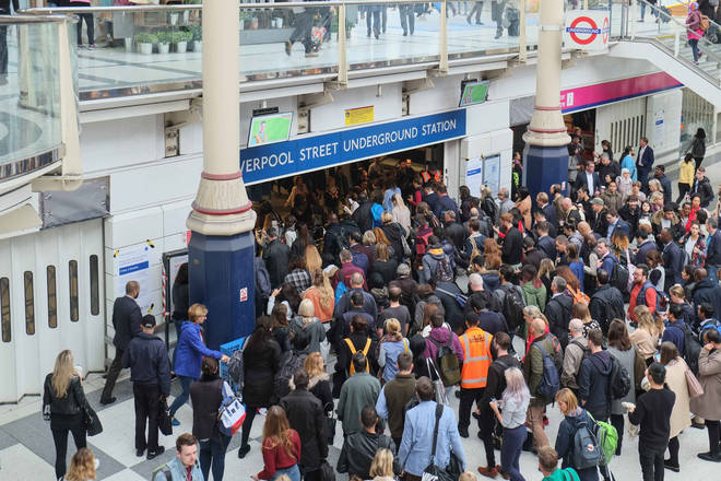 Liverpool Street station is expected to be busy as a result of the tube strike on the Central Line
