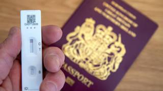 Coronavirus test with a passport