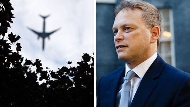 Grant Shapps held a press conference from 10 Downing Street today