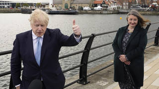 """Boris Johnson has hailed a """"very encouraging set of results so far"""" after the Conservatives won the Hartlepool by-election"""