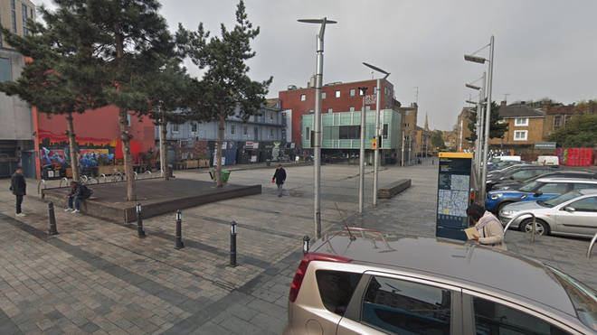 Police responded to shots being fired at Gillett Square in Dalston, Hackney