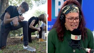 Natasha Devon rows with caller branding wokeness 'whinging victimhood'