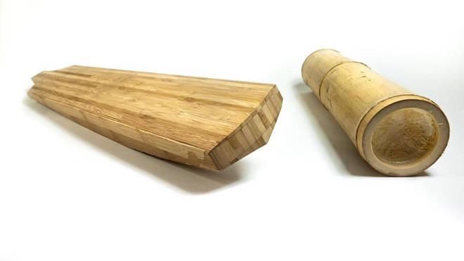 A prototype of the bamboo cricket bat
