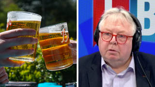 The pub and brewery boss was speaking to Nick Ferrari