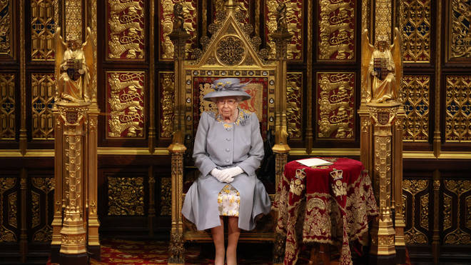 Previously there was a pair of thrones - for the Queen and her consort