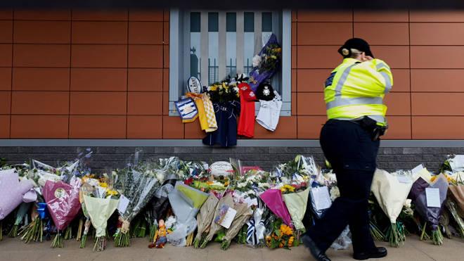 Floral tributes to Matt Ratana left outside Croydon Custody Centre