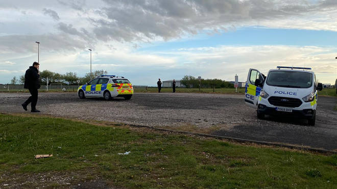 Police raced to the scene on School Road in Blackpool just after 5pm on Tuesday, after it is though he was hit in a thunderstorm.