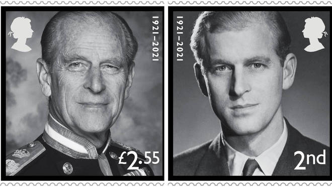 Royal Mail has unveiled four new stamps which will commemorate the life of the Duke of Edinburgh