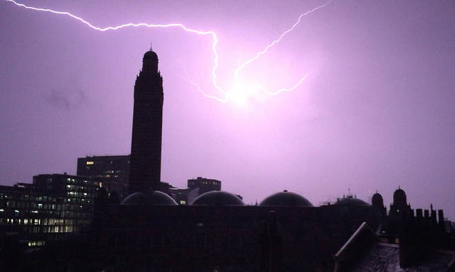 The caller recounted his experiences of being hit by lightening