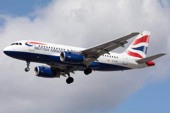 British Airways has cancelled today's flight to Tel Aviv