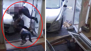 Police released the shocking CCTV after Khan was sentenced