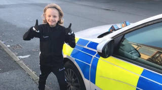 Jordan Banks left sweets on police cars during lockdown to cheer up officers