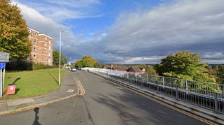 The incident happened in The Promenade, Brierley Hill, on Tuesday morning