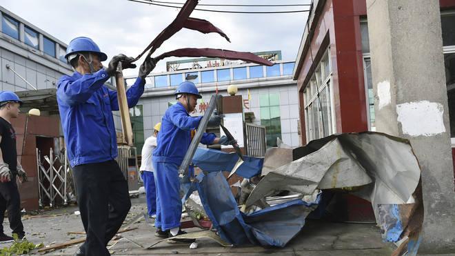 China tornado damage