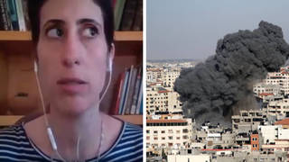 WATCH: Bombs fall on Gaza during Matt Frei's interview with Gaza resident