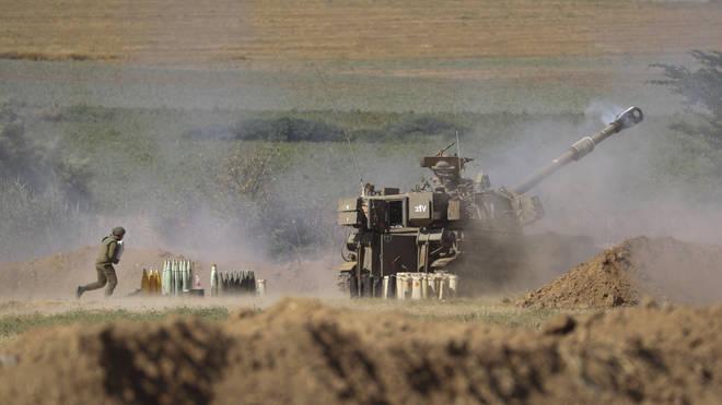 Israeli artillery