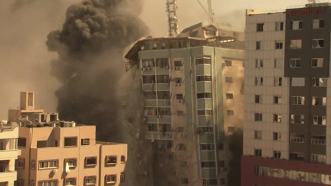 The tower block was destroyed in an Israeli strike