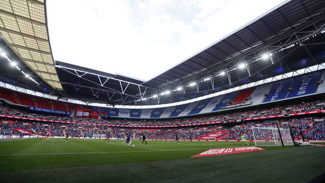 The stadium is running at just a quarter of its normal capacity of 90,000.