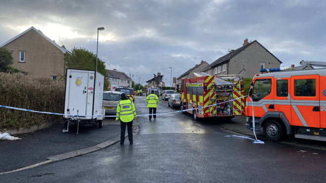 Emergency services at the scene this morning