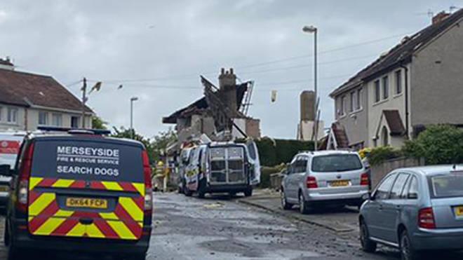 Damage caused by the blast in Heysham, Lancashire