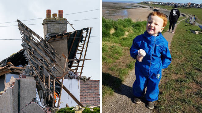 George Arthur Hinds, 2, has been named as the toddler who died in a suspected gas explosion in Heysham.