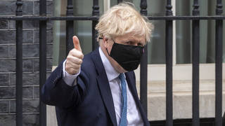 """Boris Johnson has urged a """"heavy dose of caution"""" as lockdown is eased across the UK"""
