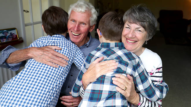 Hugs and other physical contact between households in Scotland and England will be permitted for the first time since restrictions began more than a year ago