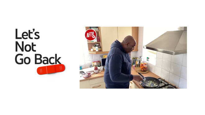 Robbie Lyle from AFTV as part of the Let's Not Go Back campaign