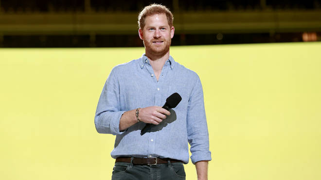 Prince Harry speaks at the Global Citizen: VAX Live concert on May 8