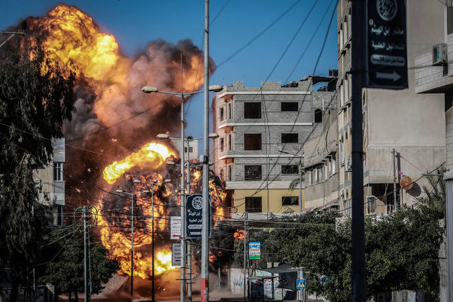 Israel has carried out further heavy airstrikes against locations in Gaza
