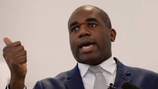 David Lammy branded the abuse 'disgusting'