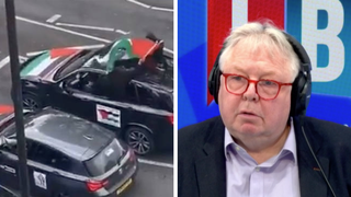 The caller was speaking to LBC after the incident at the weekend