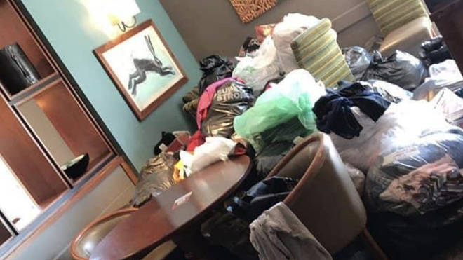 Hundreds of people have sent donations of clothes, toiletries and money