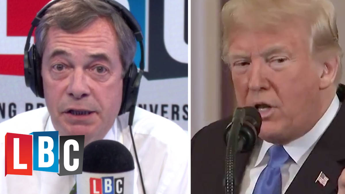 Nigel Farage Battles Caller Over THAT Donald Trump Press Conference