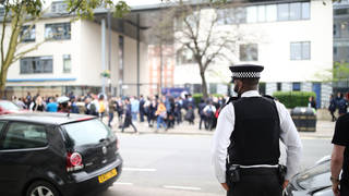 Officers went to the school during protests in March