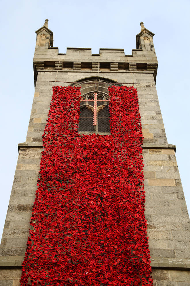 Liberton Kirk, Edinburgh Has Been Decorated With Sixteen Thousand Poppies