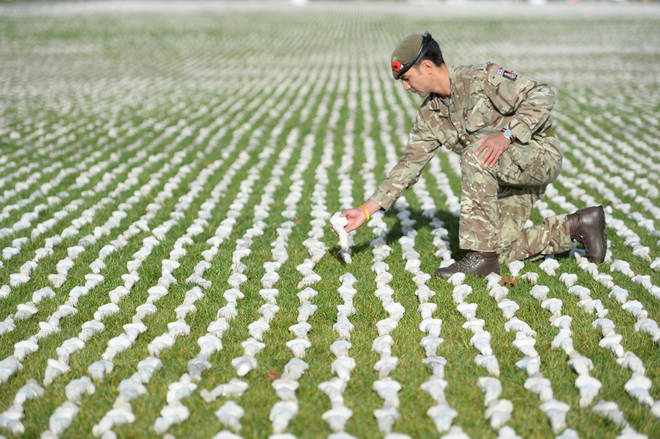 "The ""Shrouds Of The Somme"" Installation At The Queen Elizabeth Olympic Park In London"