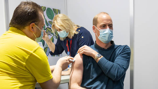 Prince William has received his first dose of the coronavirus vaccine