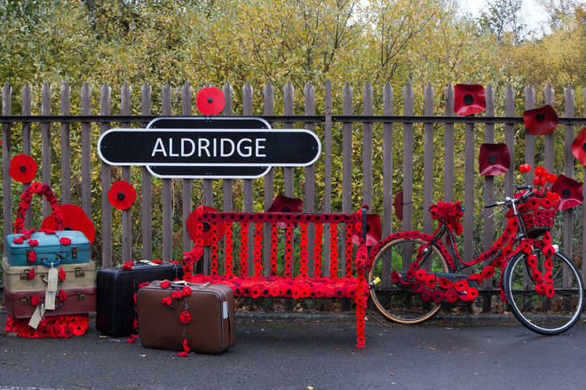 A Sign In Station Road, Aldridge In Walsall Which Has Transformed Itself Into Poppy Road To Honour Local People Who Endured And Lost Their Lives In The First World War