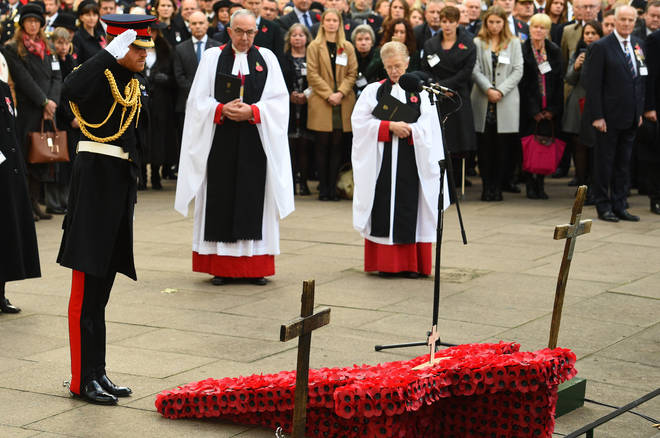 The Duke of Sussex Visits The Field Of Remembrance At Westminster Abbey, Which Has Been Organised By The Poppy Factory And Held In The Grounds Of Westminster Abbey Since November 1928