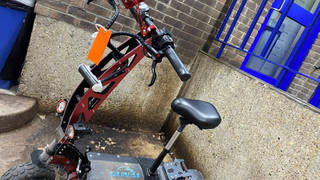 The seized e-scooter was found to be capable of reaching speeds of over 50mph and had been fitted with a horn, seat and indicators but no lights