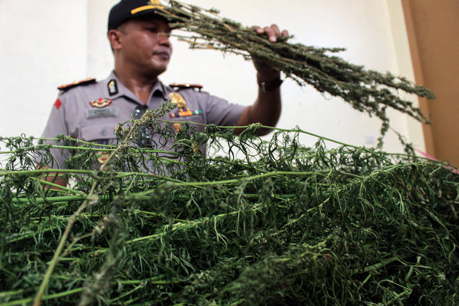 The hotel owner and his partner were caught in possession of marijuana