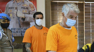 Kenneth Daniel Kutsch and Francesco D'Alesio appeared at a news conference, following their arrest