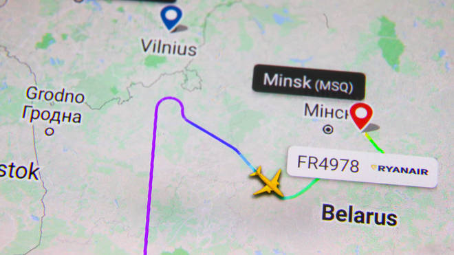 Grant Shapps has asked for passenger planes not to fly over Belarus