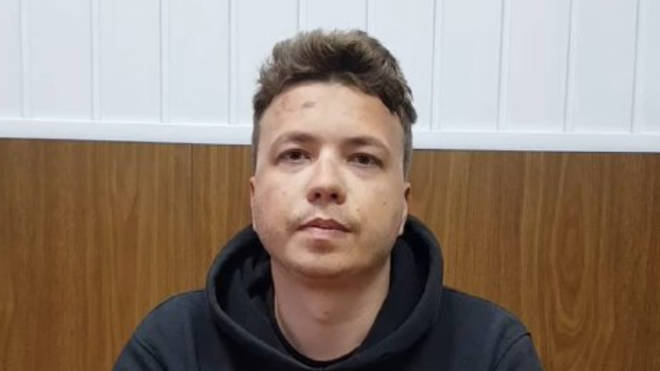 Roman Protasevich has appeared in a new video released by Belarusian authorities