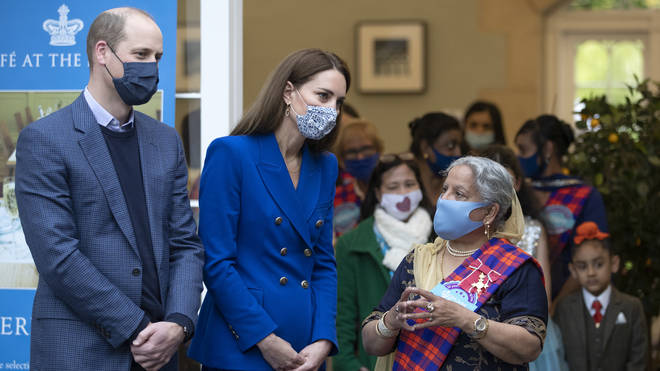 Kate and William joined Sikh women preparing food for vulnerable families in Edinburgh